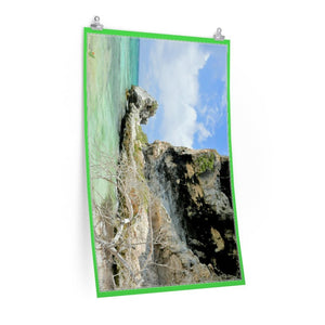 Low cost quality Posters - Pristine and remote - Pajaros Beach caves - in Mona Island PR - Yunque Store