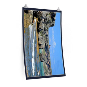 Low cost quality Posters - Pristine and remote - Pajaros Beach caves side - Mona Island PR Poster Printify