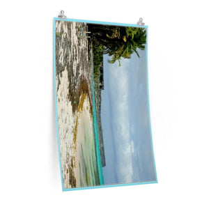 Low cost quality Posters - Pristine and remote - Pajaros Beach in Mona Island PR - El Faor Poster Printify