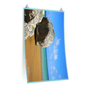 Low cost quality Posters - Pristine and remote - Pajaros Beach in Mona Island PR Poster Printify