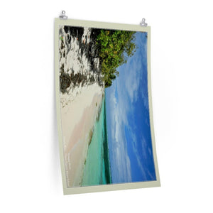 Low cost quality Posters - Pristine and remote - Pajaros Beach in Mona Island PR - resting in paradise - Yunque Store