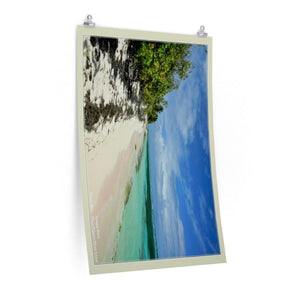 Low cost quality Posters - Pristine and remote - Pajaros Beach in Mona Island PR - resting in paradise Poster Printify