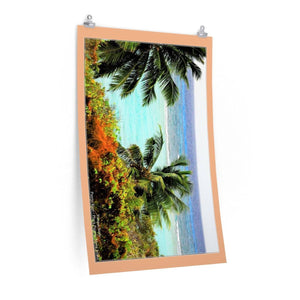 Low cost quality Posters - Pristine and remote - Pajaros green beach in Mona Island PR Poster Printify