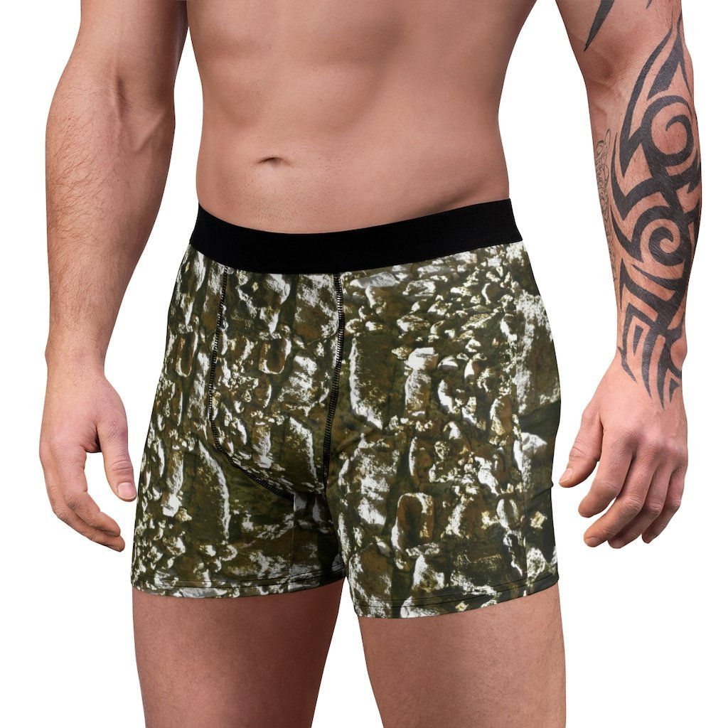 Men's Boxer Briefs - Beach rocks surface in Mona Island PR - Yunque Store