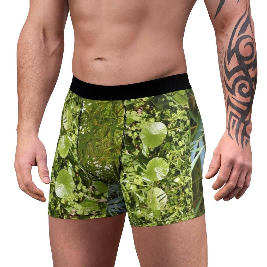 Men's Boxer Briefs - El Yunque rainforest Bamboo and plants patterns - Yunque Store