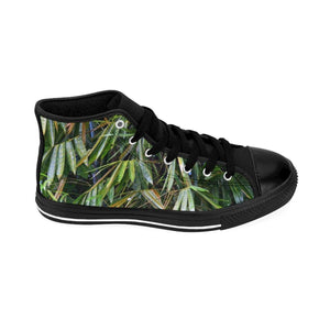 Men's High-top Sneakers - Bamboo leaves - El Yunque rain forest PR Shoes Printify