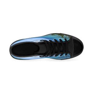 Men's High-top Sneakers - Ocean Coast in the Palmas de Mar Housing complex - Puerto Rico Shoes Printify