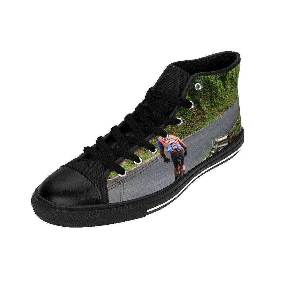 Men's High-top Sneakers - Roads and Trails - El Yunque rain forest PR Shoes Printify