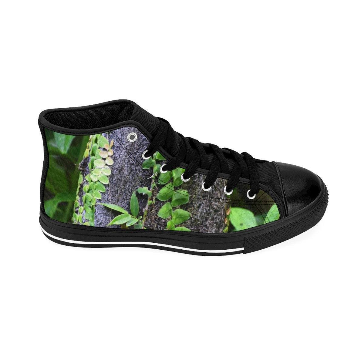 Men's High-top Sneakers - The strong trunk of the Fern Palm - El Yunque rain forest PR Shoes Printify