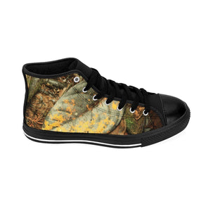 Men's High-top Sneakers - Trade winds trail leaves and dancing trees - El Yunque rain forest PR Shoes Printify