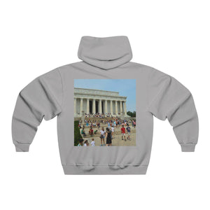 Men's NUBLEND® Hooded Sweatshirt - The Lincoln Memorial in WA DC - in honor of the president who saved the Union. Hoodie Printify