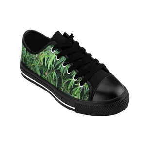 Men's Sneakers - Bamboo leafs - from Rio Sabana park - El Yunque rain forest PR Shoes Printify