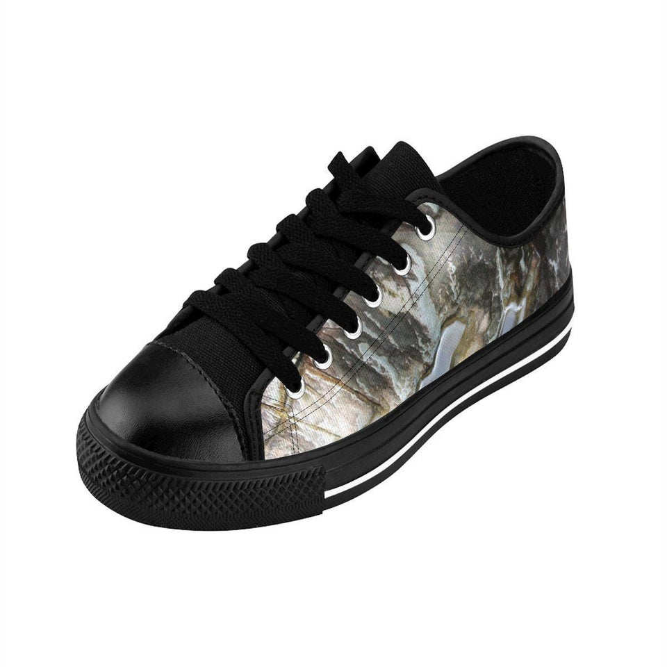 Men's Sneakers - Boulder marks near river and Holy Spirit river exploration - El Yunque rain forest PR Shoes Printify