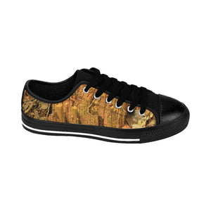 Men's Sneakers - Landslide earth and Yagrumo and grass in trail - El Yunque rain forest PR Shoes Printify