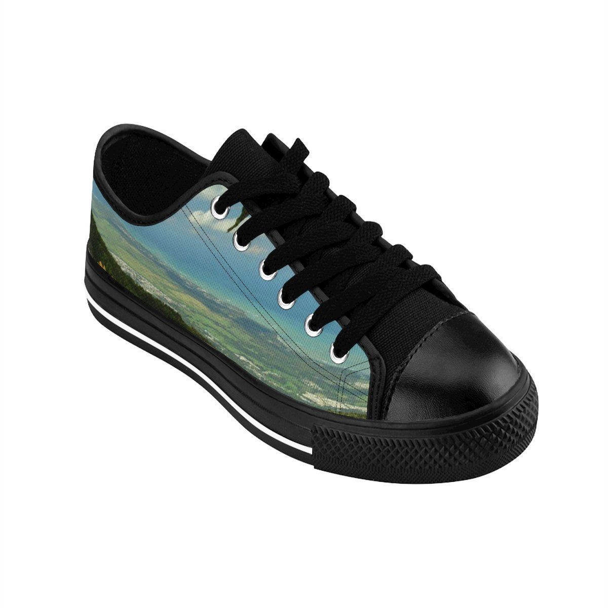 Men's Sneakers - Views from Three peaks and Yokahu tower after storm - El Yunque rain forest PR Shoes Printify
