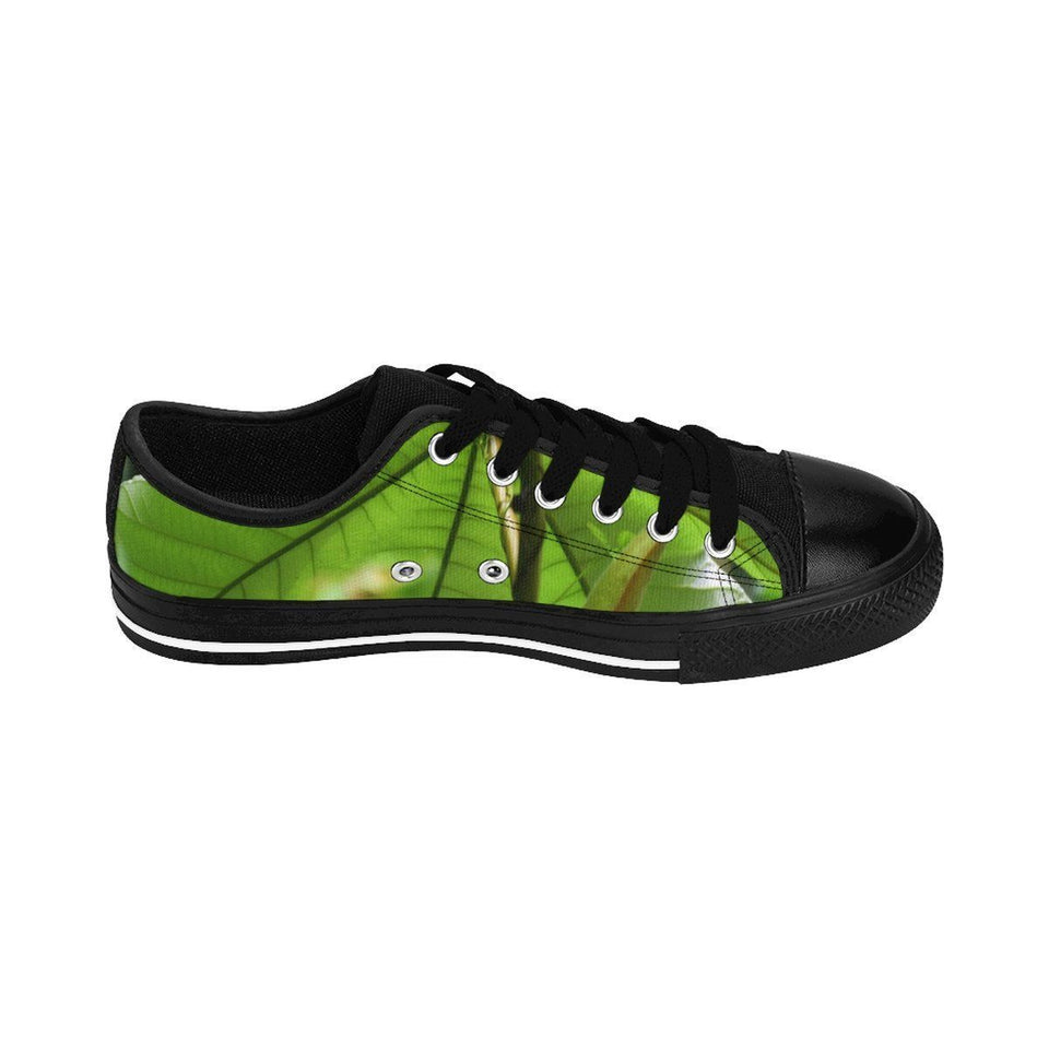 Men's Sneakers - Yagrumo tree leaves - El Yunque rain forest PR Shoes Printify