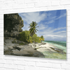 💎 Mesmerizing Mona Island WALL PLATE - Pajaros beach edge with cave - 50 miles from Puerto Rico - Yunque Store