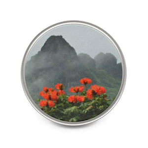 Metal Pin - Telephoto view from Yokahu tower after storm - El Yunque rain forest PR Accessories Printify