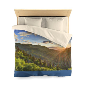 Microfiber Duvet Cover - Celebrating the Great Smoky Mountain National Park - Yunque Store