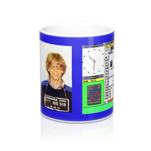 Mug 11oz - Historic 1977 Mug shot of Bill Gates for speeding in NM and windows 3.1 - Yunque Store