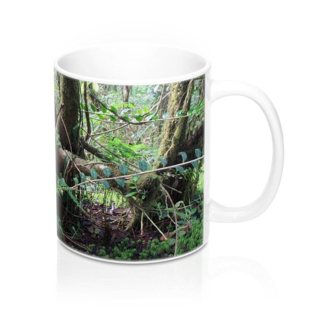 Mug 11oz - UK Print - Dancing trees - cloud forest Tradewinds trail - El Yunque rain forest Puerto Rico - Yunque Store
