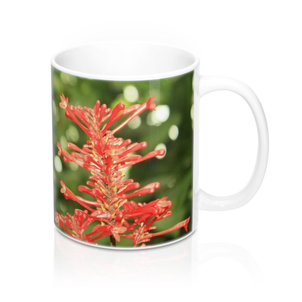 Mug 11oz - UK Print - Forest flower - Tradewinds trail - El Yunque rain forest Puerto Rico - Yunque Store