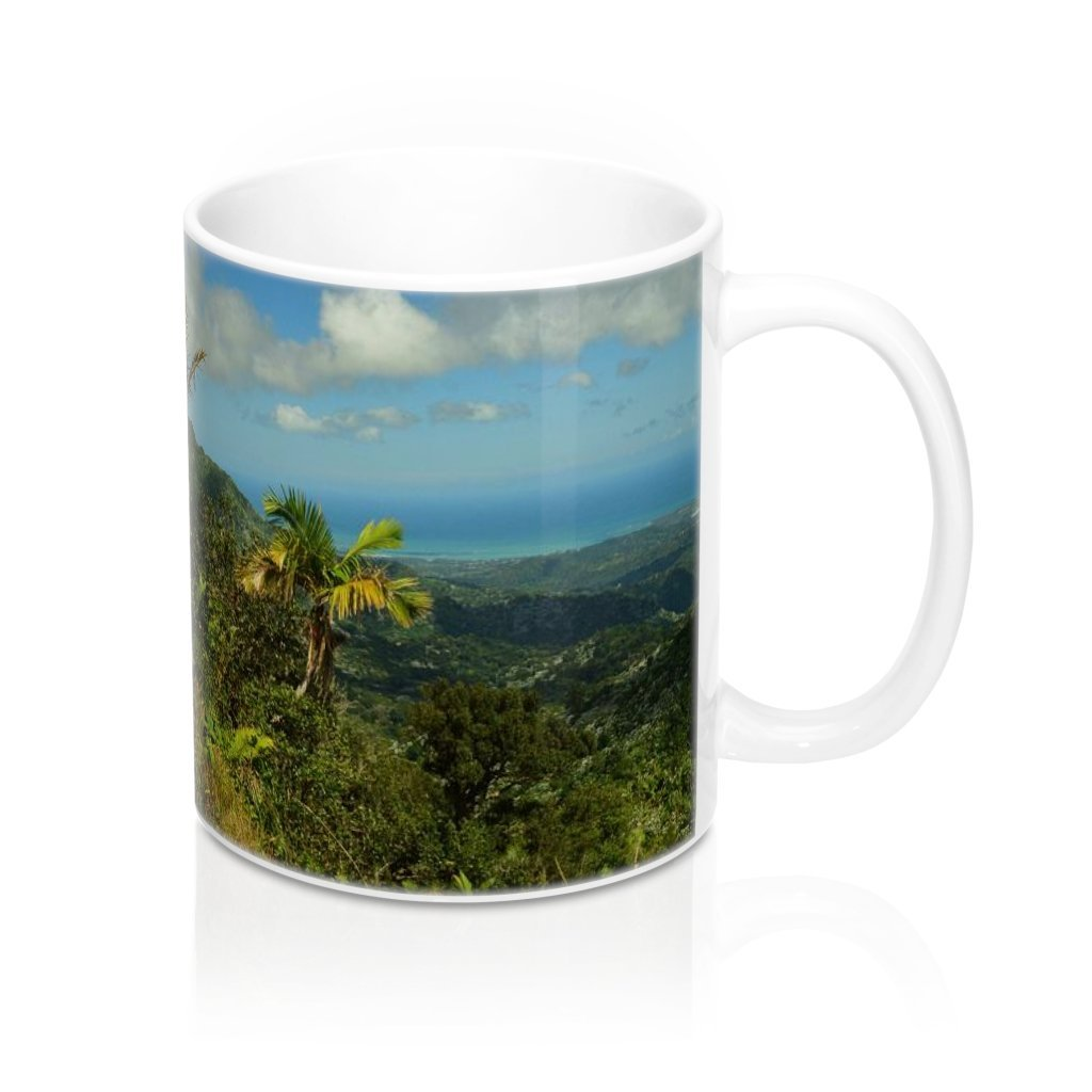 Mug 11oz - UK Print - View from 2.5k feet East Peak road - El Yunque rain forest Puerto Rico - Yunque Store