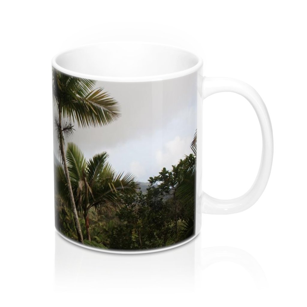 Mug 11oz - UK Print - View from Closed road PR 191- El Yunque rain forest Puerto Rico - Yunque Store