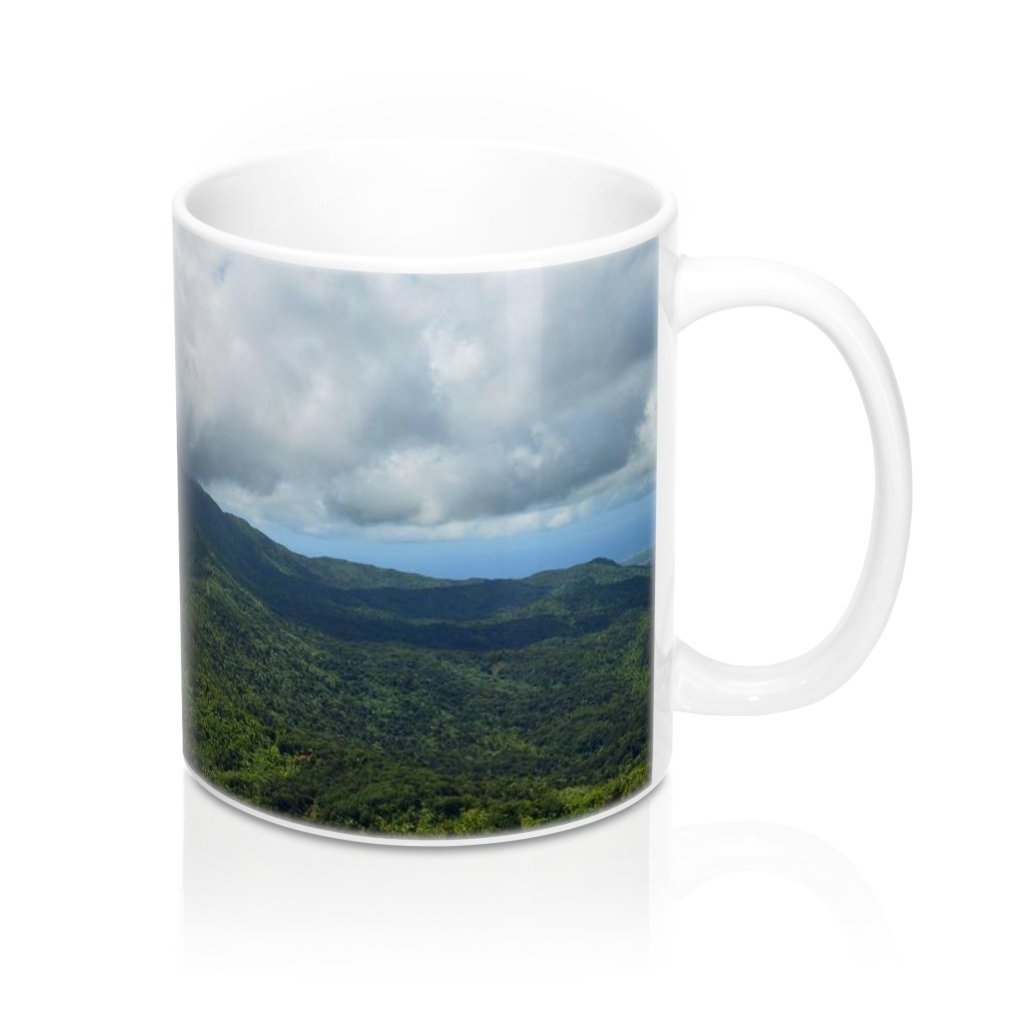 Mug 11oz - UK Print - View from Mt Britton tower 3k feet - El Yunque rain forest Puerto Rico - Yunque Store