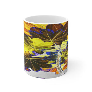 Mug 11oz - USA MADE - Unique images of Yagrumo Tree & leafs from El Yunque rainforest PR - Alien 👽 Vision - Yunque Store