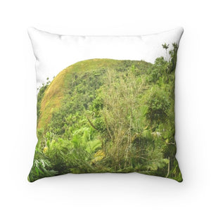 Nature@Home - Faux Suede Square Pillow Case - Toro Negro Rainforest - Highest Tropical Forest of Puerto Rico at 4,000 feet - Made in USA - Yunque Store