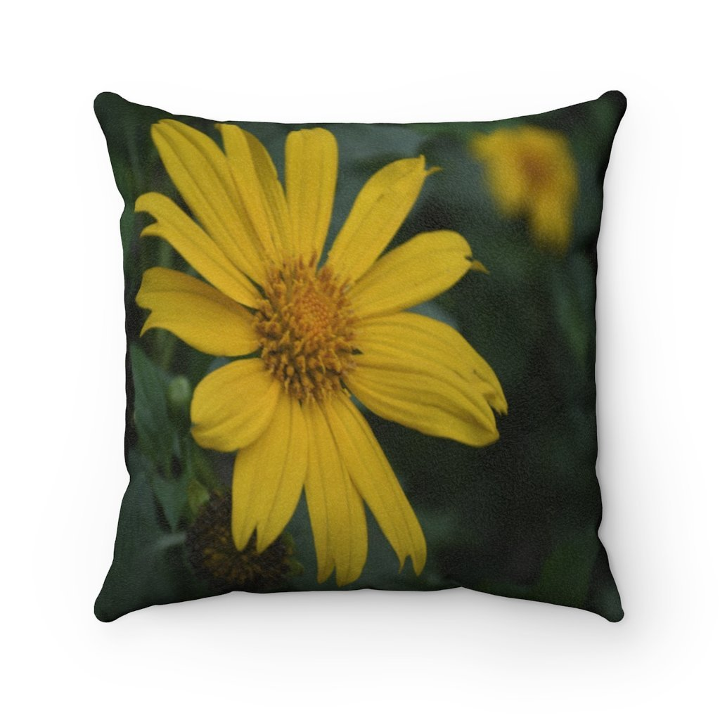 Nature@Home - Faux Suede Square Pillow Case - Tropical Plants of Puerto Rico in Naguabo - Made in USA - Yunque Store