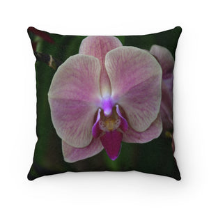 Nature@Home - Faux Suede Square Pillow Case - Tropical Plants of Puerto Rico - Orchid - Made in USA - Yunque Store