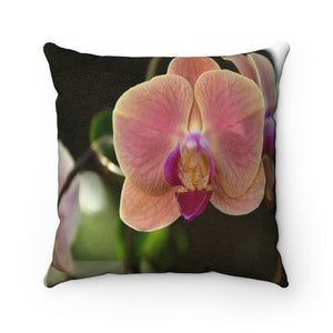 Nature@Home - Faux Suede Square Pillow Case - Tropical Plants of Puerto Rico - Orchids - Made in USA - Yunque Store