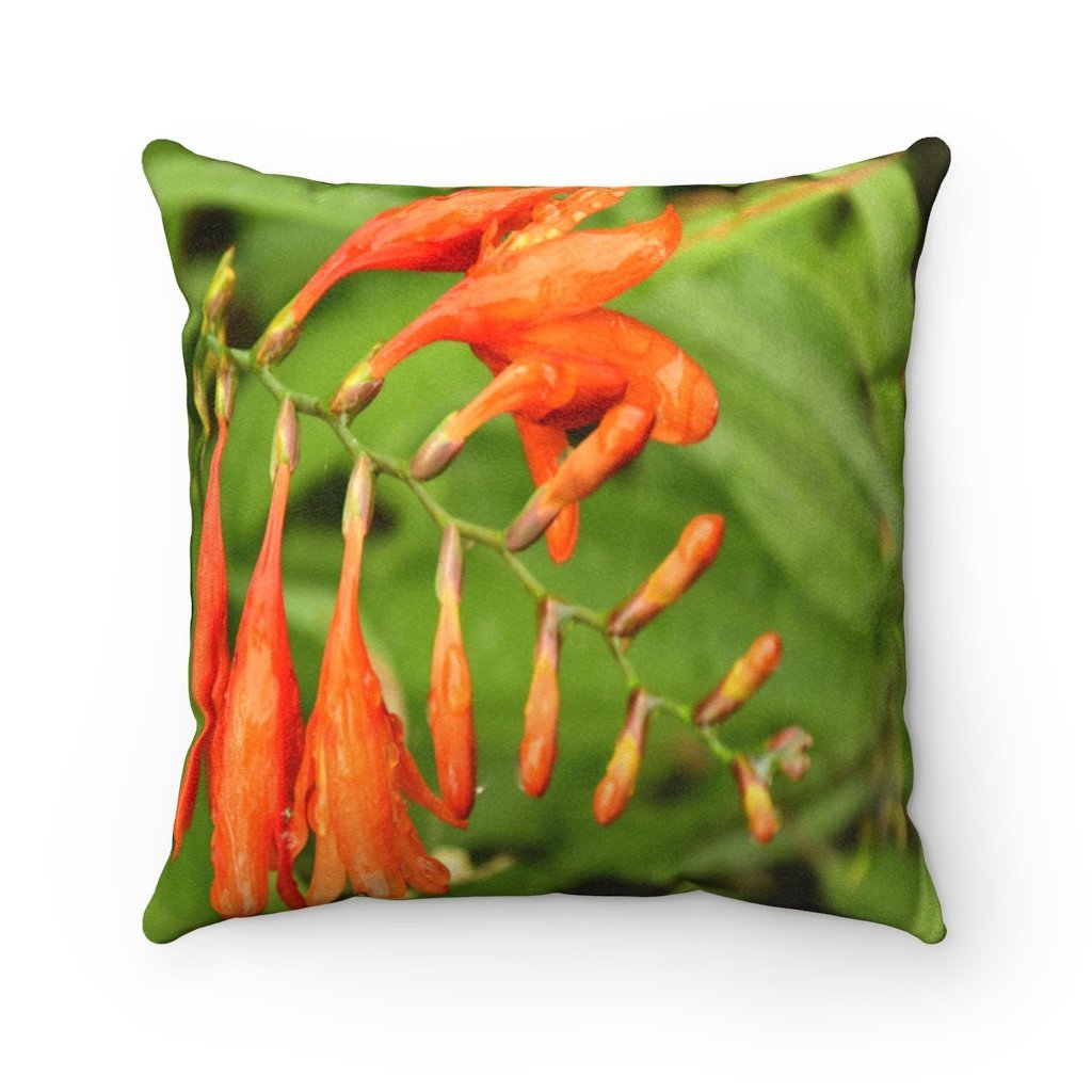 Nature@Home - Faux Suede Square Pillow Case - Tropical Plants of Puerto Rico - Rare Flower at the Toro Negro Rainforest at 4,000 feet - Made in USA - Yunque Store