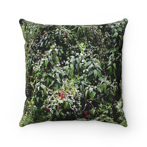 Nature@Home - Spun Polyester Square Pillow - High Mountain Rainforest Dense roadside foliage - Toro Negro rainforest Park Over 4,000 feet altitude - Highest in Puerto Rico - Yunque Store