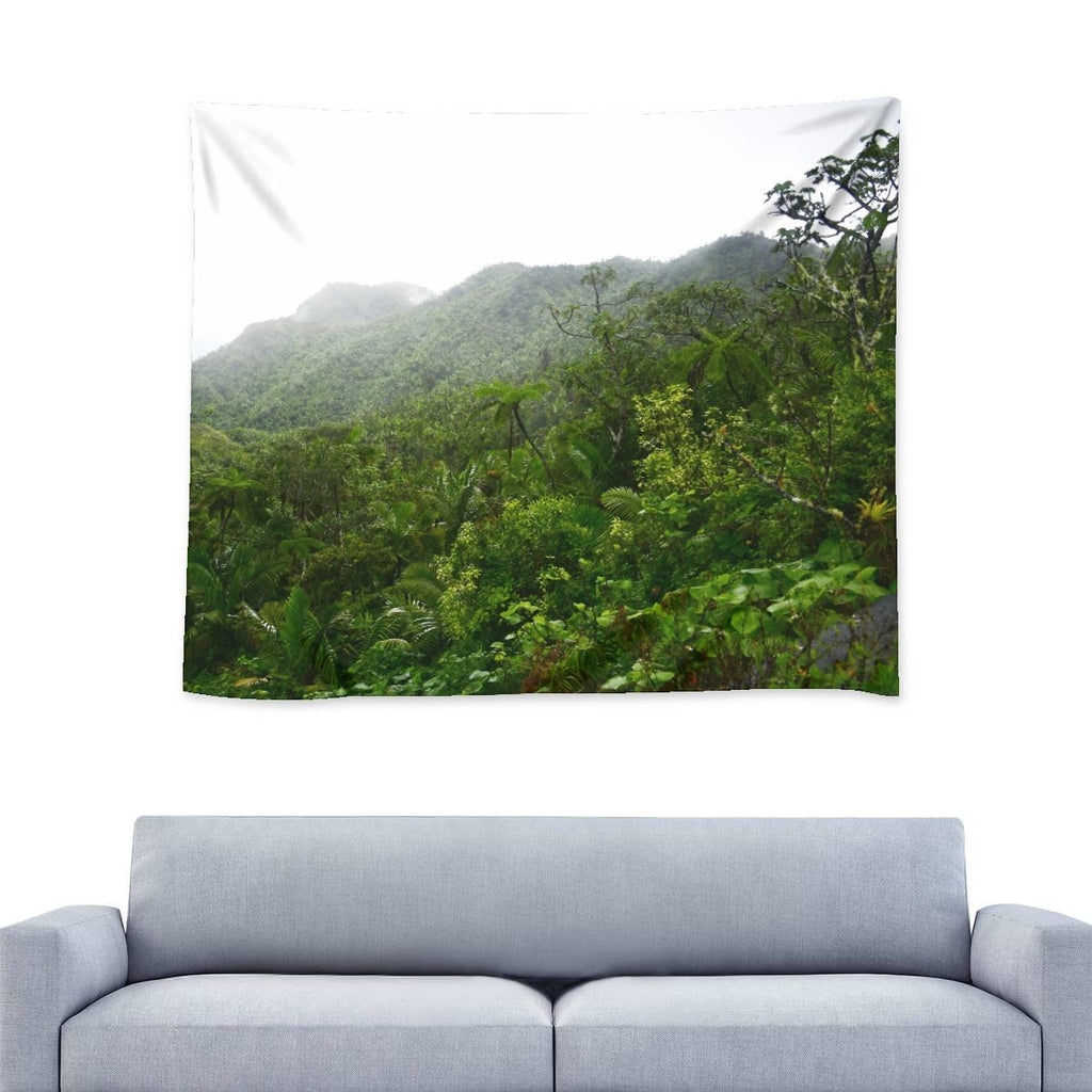 Nature@Home - Wall Tapestry - High Mountain Rainforest view - Toro Negro rainforest Park Over 4,000 feet altitude - Highest in Puerto Rico - Yunque Store