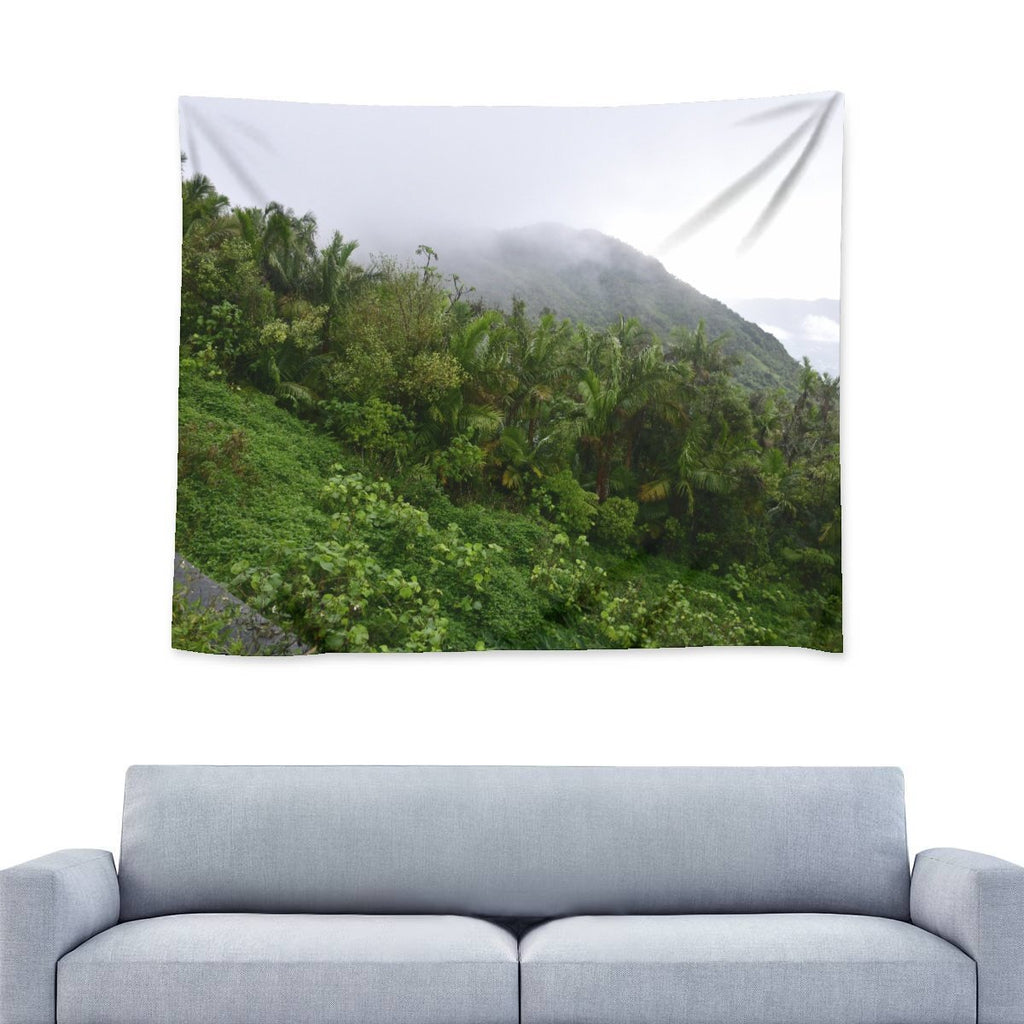 Nature@Home - Wall Tapestry - High Mountain View next to landslide - Toro Negro rainforest Park Over 4,000 feet altitude - Highest in Puerto Rico - Yunque Store