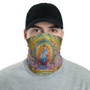 Neck Gaiter Face Covering - Corona Viruses Protection - Ancient Christian church painting - Yunque Store
