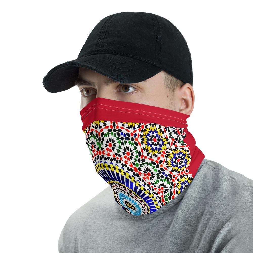 Neck Gaiter Face Covering - Corona Viruses Protection - Arabic Tiles - Yunque Store