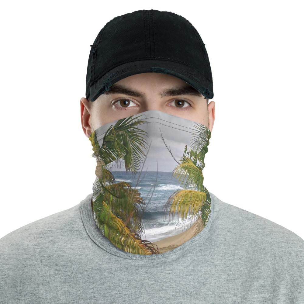 Neck Gaiter Face Covering - Corona Viruses Protection - Isabela Hau Beach Puerto Rico - Yunque Store