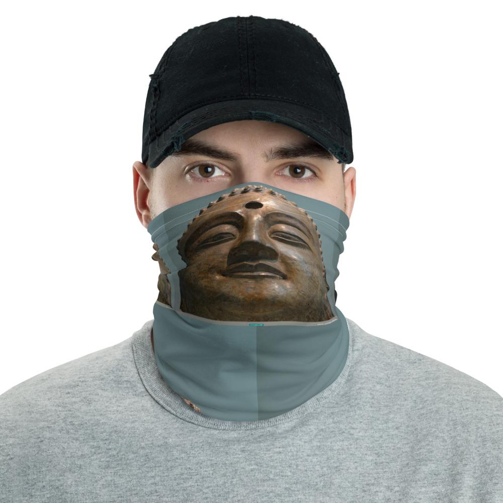 Neck Gaiter Face Covering - Corona Viruses Protection - Smiling Buddhas - Smithsonian WA DC - Yunque Store