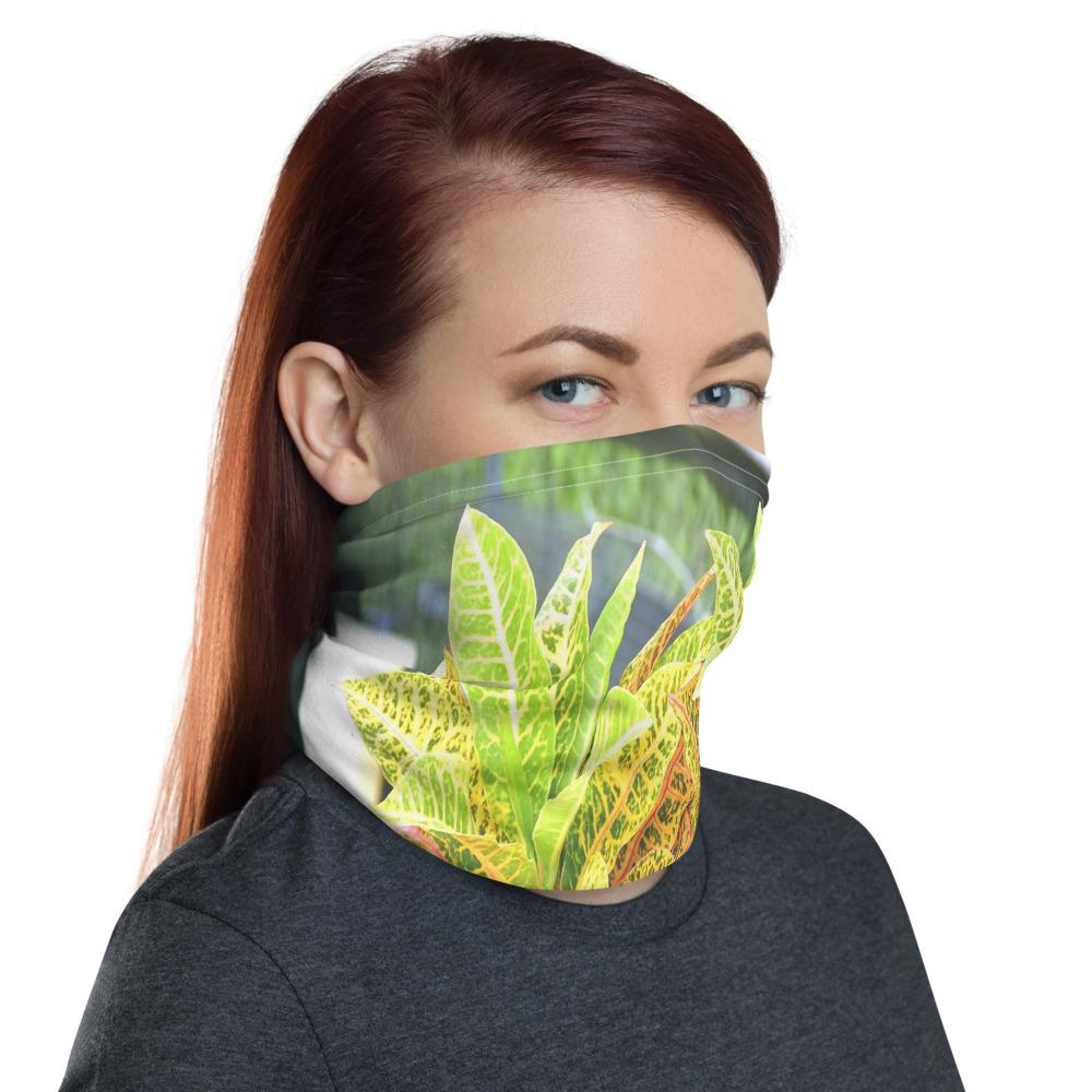 Neck Gaiter Face Covering - Corona Viruses Protection - Tropical Plants - Yunque Store