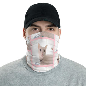 Neck Gaiter Face Covering - Corona Viruses Protection - Very Cute Cat - Yunque Store