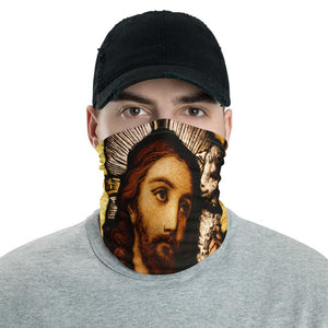 Neck Gaiter Face Mask Coronavirus Protection - Jesus in church window - Yunque Store