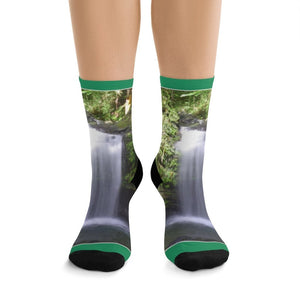 NEW AOP socks by TRIBE in CA - Tropical plants and views from Puerto Rico - get your Feet@Nature - Yunque Store