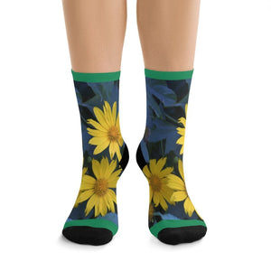 NEW AOP socks by TRIBE in CA - Tropical plants from Puerto Rico - get your Feet@Nature - Yunque Store