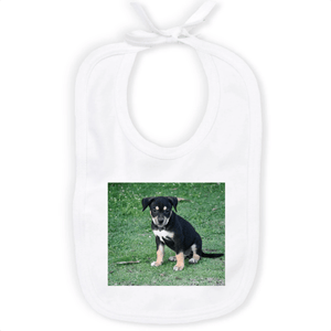 ORGANIC BABY BIB - Puppy dog living in mountains of Humacao - Puerto Rico - Yunque Store