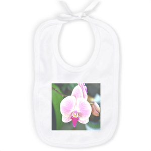 ORGANIC BABY BIB - with orchid from Puerto Rico - Yunque Store