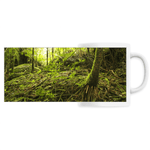 PANORAMIC CERAMIC MUG - View of Sierra Palm growing in huge boulders - Holy Spirit river explorations El Yunque PR - Yunque Store